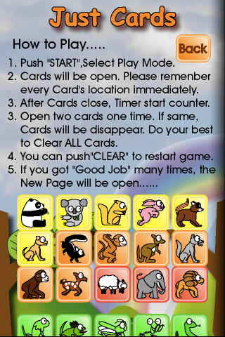 Screenshot Just Cards